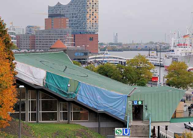 S Landungsbrücken, Hamburg-Neustadt, Hamburg, Deutschland, Oktober 2020