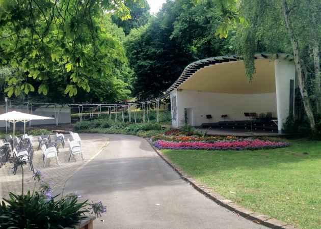 Musikpavillon Bad Wildungen, Hessen, Deutschland, August 2019