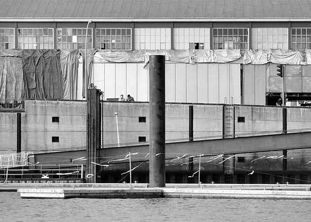 U Baumwall, Hamburg-Neustadt, Hamburg, Deutschland, Oktober 1991