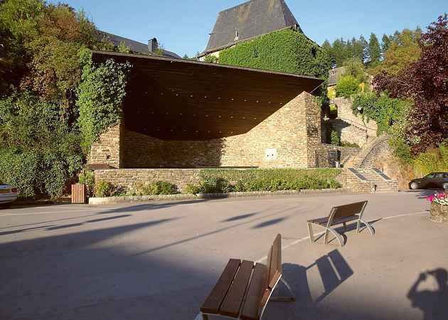 Musikpavillon Clervaux, Luxemburg, Luxemburg, August 2009
