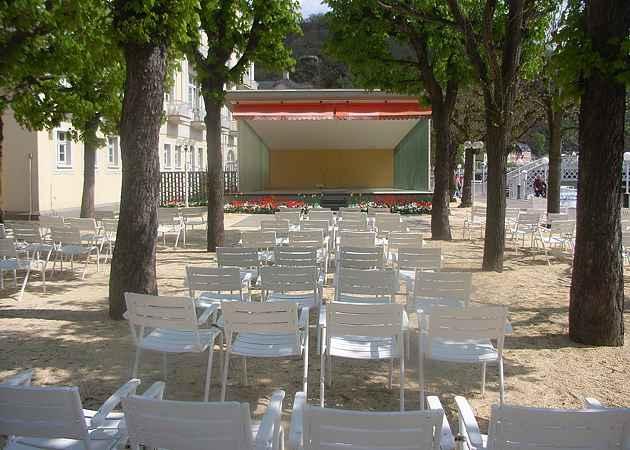 Musikpavillon Bad Ems, Rheinland-Pfalz, Deutschland, April 2008