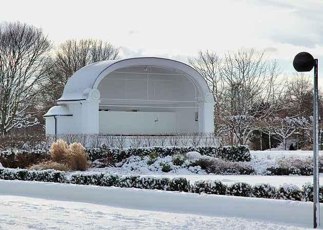 Musikpavillon Lübeck-Travemünde, Schleswig-Holstein, Deutschland, Dezember 2005