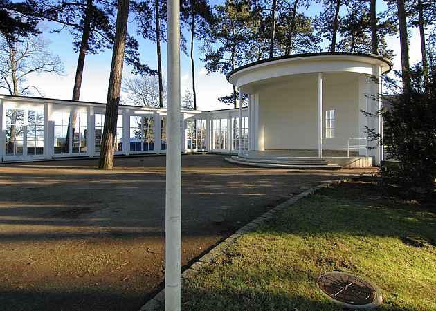 Musikpavillon Timmendorfer Strand, Schleswig-Holstein, Deutschland, Januar 2008