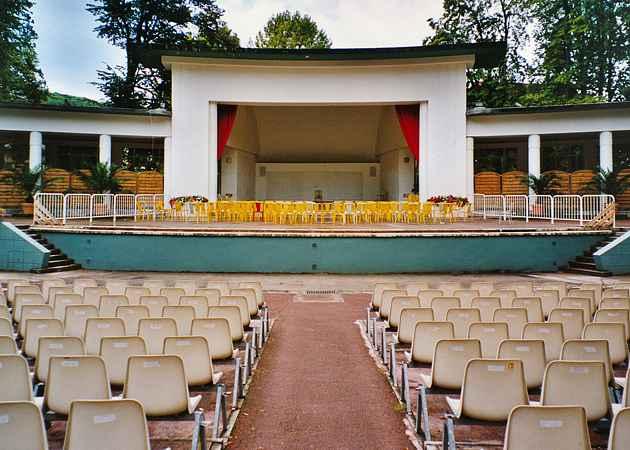Musikpavillon Aix-les-Bains, Savoie, Frankreich, September 2003