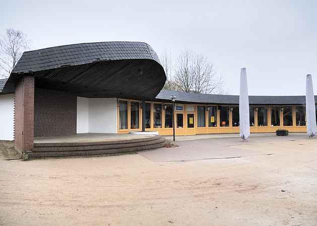 Musikpavillon Scharbeutz, Schleswig-Holstein, Deutschland, Januar 2009