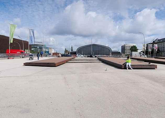 Arno-Schmidt-Platz, Hamburg-Altstadt, Hamburg, Deutschland, Juli 2020