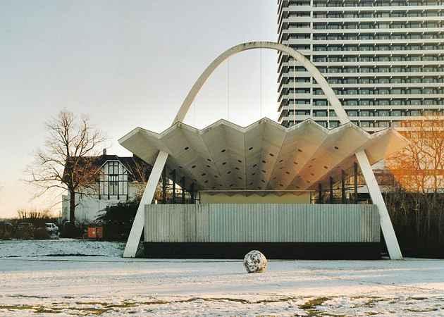Musikpavillon Lübeck-Travemünde, Schleswig-Holstein, Deutschland, Dezember 2001