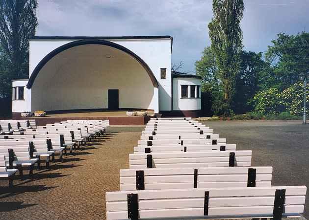 Musikpavillon Zinnowitz, Mecklenburg-Vorpommern, Deutschland, Mai 2004