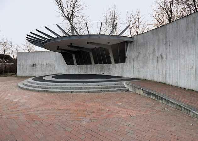 Musikpavillon Eckernförde, Schleswig-Holstein, Deutschland, Februar 2014